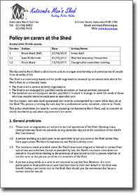 Carers policy